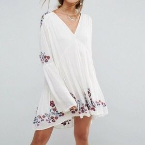 Free People Embroidered Dress Size Small